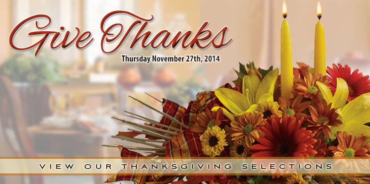 Set your table with flowers that say thanks. Remember Thanksgiving is November 27th.